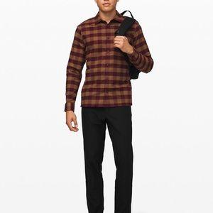 NWT Lululemon masons peak flannel brown and maroon